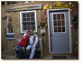 Bob & Sandy relaxing at the barn (12,585 bytes)