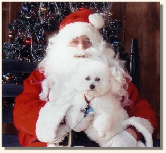 Charlie with Santa in 2005