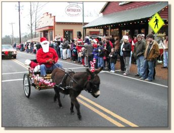 Bob, Charley, and Komotion at the Leiper's Fork Christmas Parade.